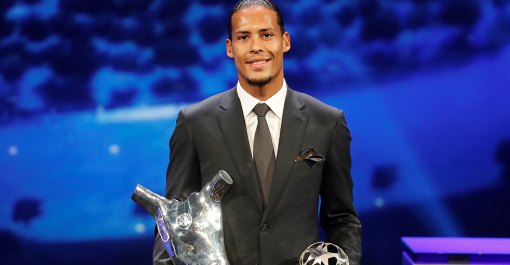 Van Dijk wordt verkozen tot UEFA-speler van het jaar