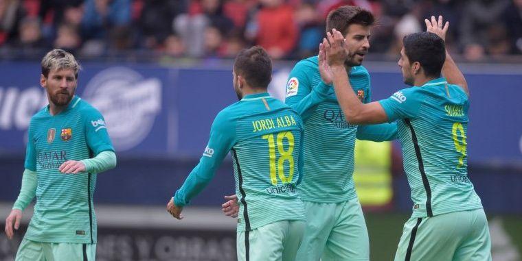 Messi en Suarez leiden Barcelona weer eens naar zege in Primera Division
