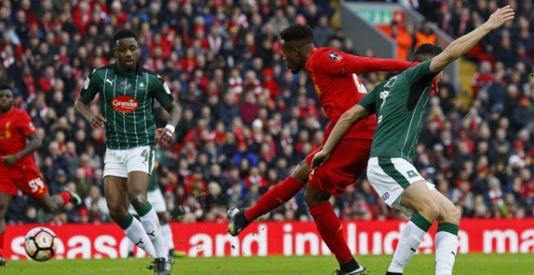 Origi en Liverpool bijten tanden stuk op stugge Engelse vierdeklasser