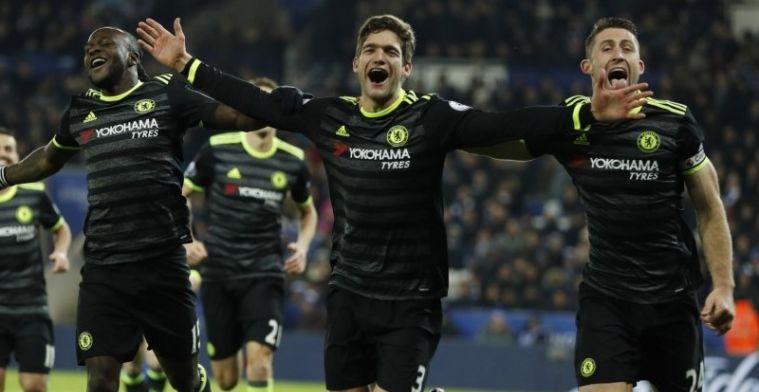 Hazard dirigeert Chelsea naar ruime uitzege tegen zwakke landskampioen
