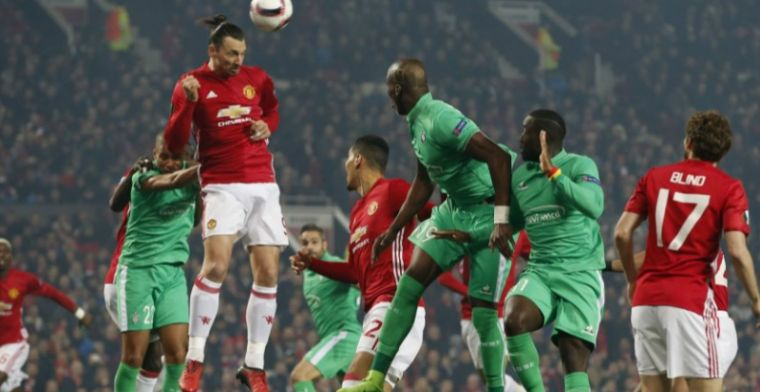 Ibrahimovic hattrickheld voor Man Utd, Nainggolan op rozen met AS Roma