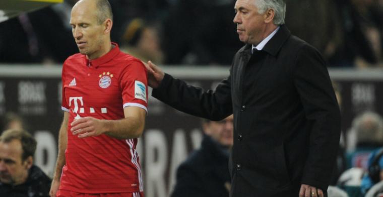 Ancelotti toont begrip voor boze Robben: Voetballers zijn ook maar mensen
