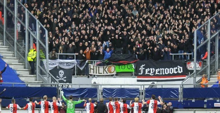 Feyenoord-fans op hoofdtribune Heerenveen: Ik ben wel geschrokken