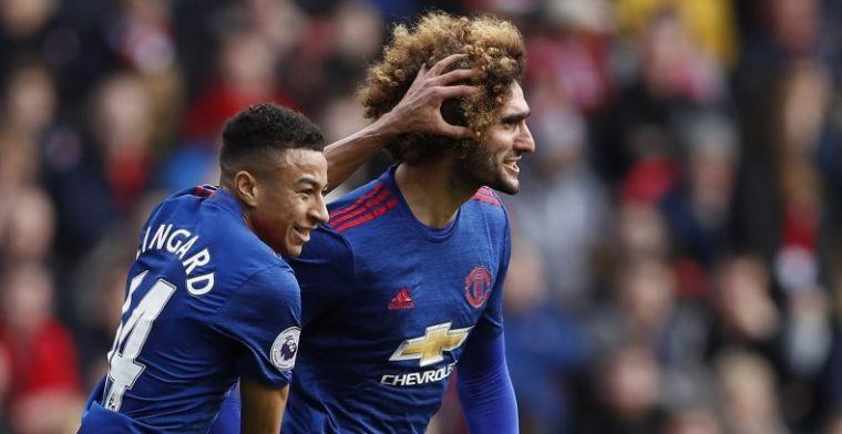 Manchester United dankt Fellaini en Lingard voor zege bij Middlesbrough