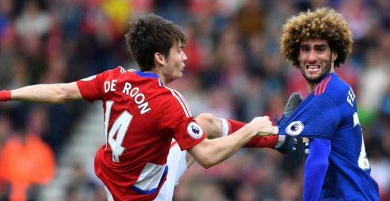 Mourinho staat met verbazing te kijken naar 'fenomenale' De Roon: 'Moet toegeven'