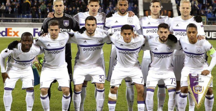 Anderlecht is primus met 13 internationals, Club Brugge bengelt achteraan