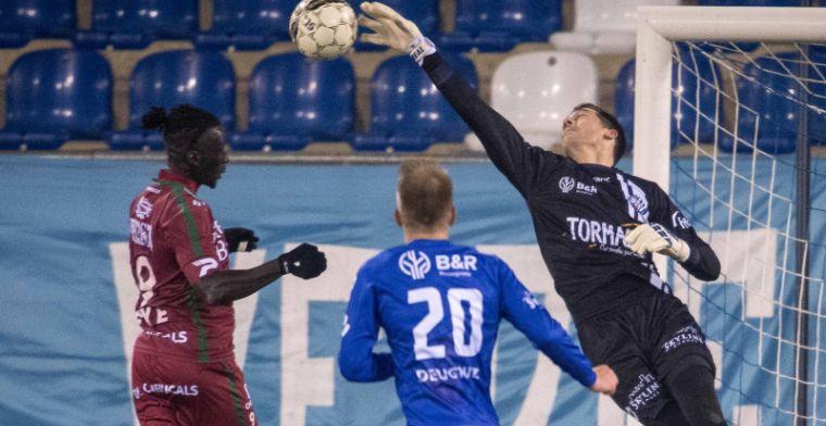 Voormalig doelman van Club Brugge breekt arm, verdediger neemt over