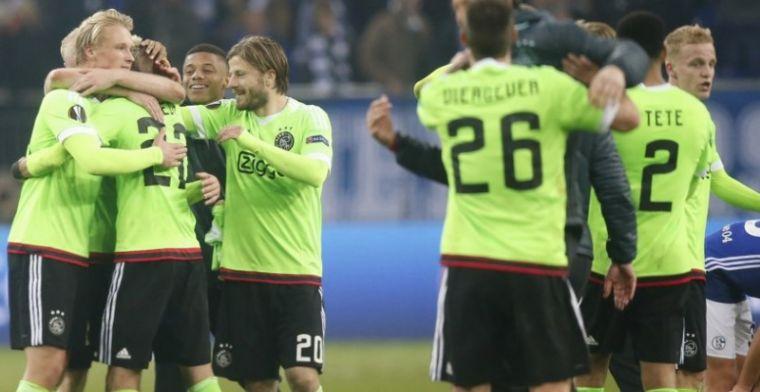 Ajax overleeft ware thriller in Duitsland en is door naar halve finale
