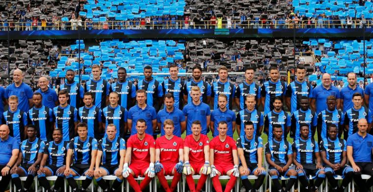 Hier is hij dan: Club Brugge neemt de grootste ploegfoto ooit