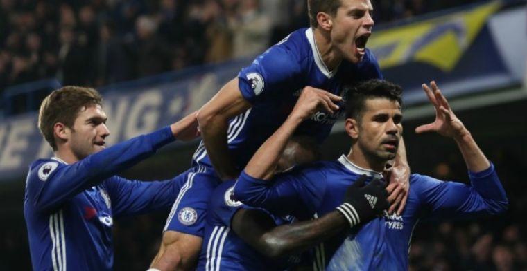 Feestende Diego Costa lacht Conte uit, vertrek op komst?