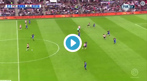 PSV weer op voorsprong tegen AZ: Pereiro profiteert van fout Bizot