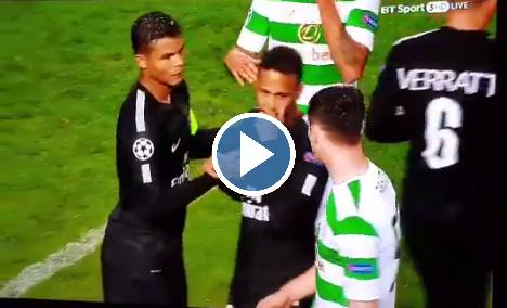 Neymar weigert hand te schudden van 18-jarige Champions League-debutant