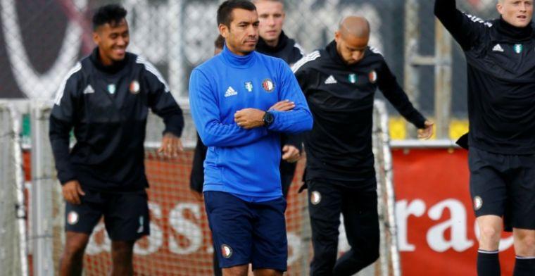 'Opstelling Feyenoord tegen City: vijf verdedigers. Toornstra bank. Kramer spits'