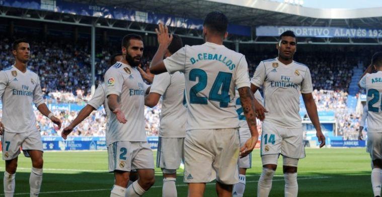 Real Madrid zwijnt tegen hekkensluiter: twee doelpunten van jonge basisdebutant