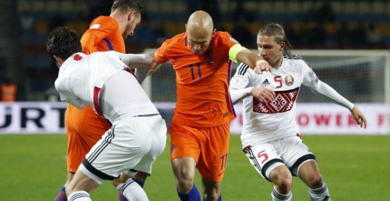 Robben: 'Het zou lullig zijn als we 6-0 voorsprong vasthouden tegen Zweden'