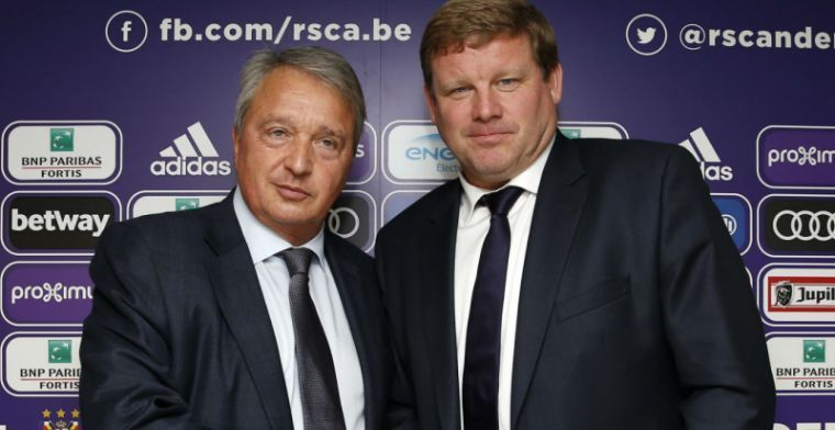 Vanhaezebrouck en Anderlecht-icoon geven acte de présence op supportersevenement