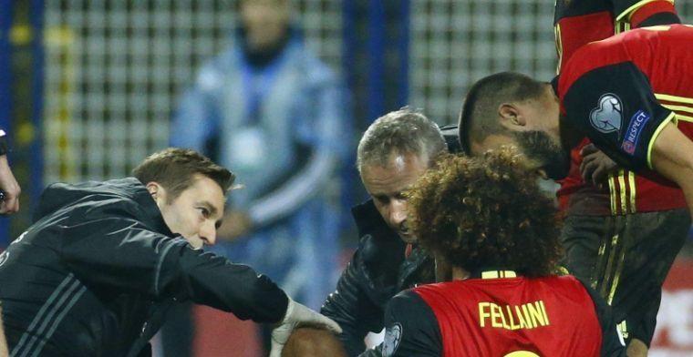 Mourinho heeft onverwachte reactie in huis op blessure Fellaini