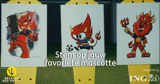 De drie kandidaten zijn bekend! Wie wordt de mascotte van de Rode Duivels?