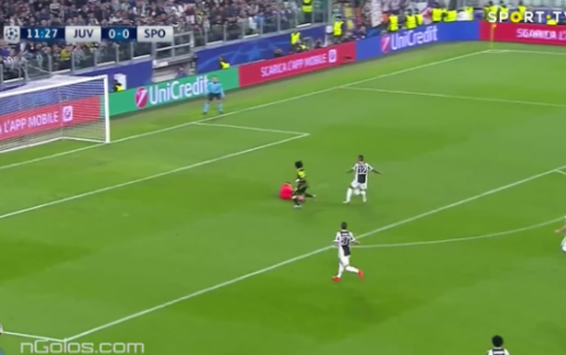 GOAL: Sporting op voorsprong bij Juventus door knullige eigen goal