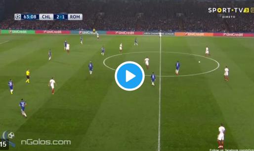 GOAL: Dzeko schiet Roma naast Chelsea met Van Basten-achtige volley