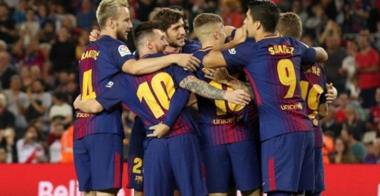 Barça steviger aan kop na blunder arbitrage, wederom mijlpaal Messi