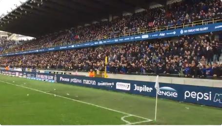 Club Brugge-supporters bekritiseerd vanwege scheldpartijen en smijten met bier