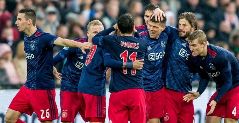 Ajax bezorgt gehavend Feyenoord pijnlijke middag; hoofdrollen Neres en Dolberg