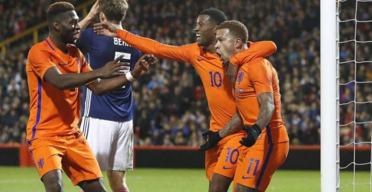Oranje sluit ontluisterende oefeninterland af met zege: Memphis matchwinner