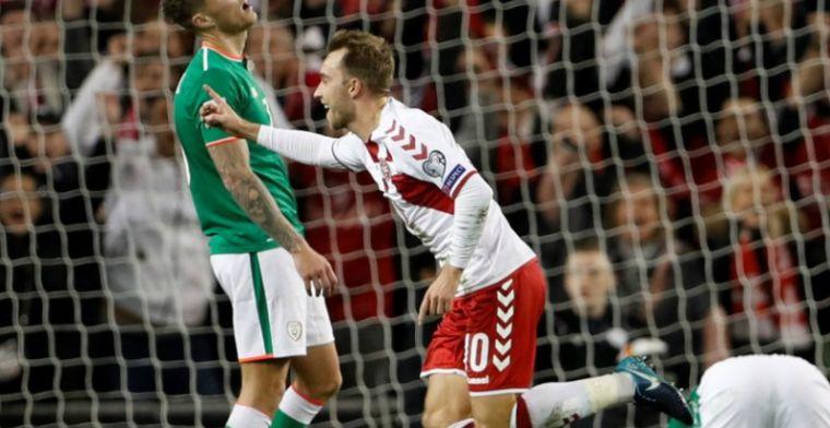 Eriksen maakt zich onsterfelijk en schiet Denemarken met hattrick naar WK
