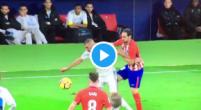 Imagen: VÍDEO | Polémica después de que Correa le chute el balón a la cara a Benzema