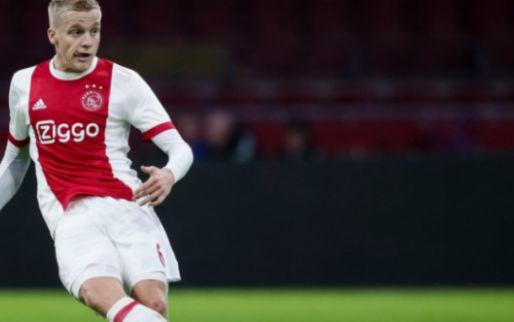 Afbeelding: Van de Beek rent tijdens Ajax-duel van het veld af: