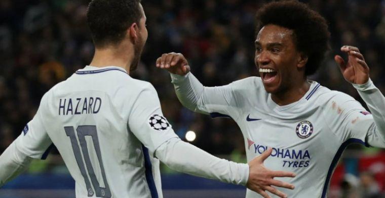 Chelsea naar laatste zestien Champions League dankzij sterke recordman Hazard