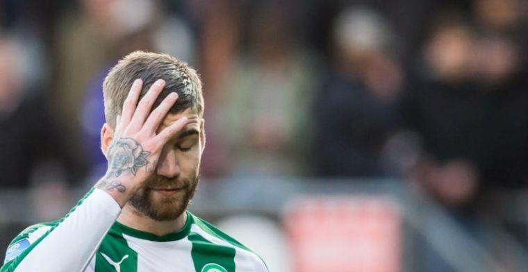 'Tot laat vloggende' FC Groningen-spits gepasseerd: Nu ligt de bal bij hem