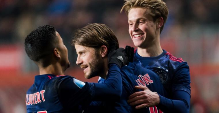 'Pas zeven keer in de basis gestaan bij Ajax. Doe effe een beetje rustig'