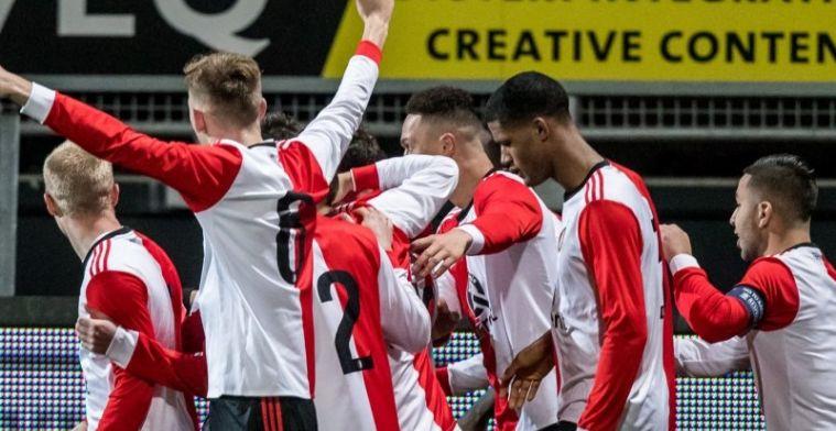 Feyenoord O19 overwintert in Europa na spektakelstuk met zeven doelpunten