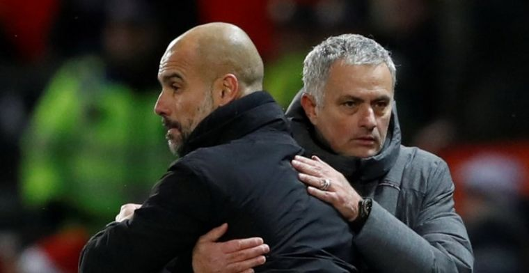 Mourinho geeft zich gewonnen in titelstrijd: 'City heeft heel veel geluk'