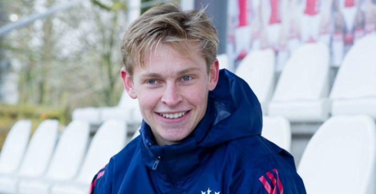 De Jong bevestigt aanstaande contractverlenging: 'Geen betere club dan Ajax'