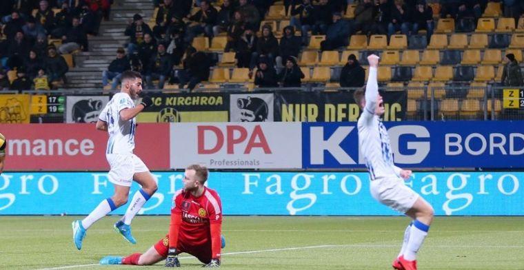 Enorme misser Rosheuvel breekt Roda JC op: VVV boekt zege in Kerkrade