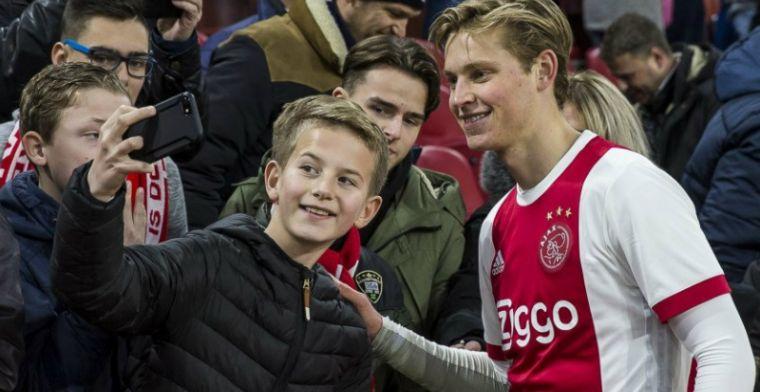 'Frenkie is drie jaar jonger dan ik, maar zó goed. Die gaat naar Barça of Real'