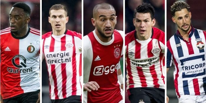 VoetbalPrimeur Elftal van de Eerste Seizoenshelft: vijf keer Ajax, vier keer PSV