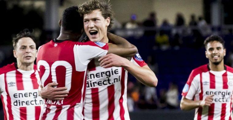 Lammers slaat weer toe bij PSV: geweldige goal maar laat tegendoelpunt Robinho