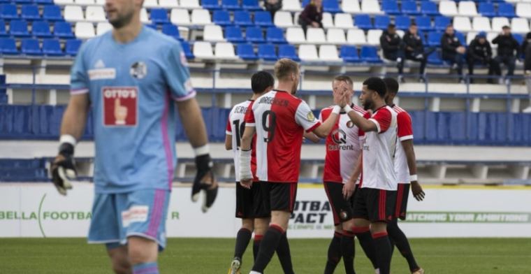 Feyenoord wint ook tweede oefenwedstrijd en is klaar voor Ajax-uit