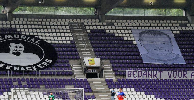 Schande in Antwerpen, gedenkmuur van overleden directeur beklad