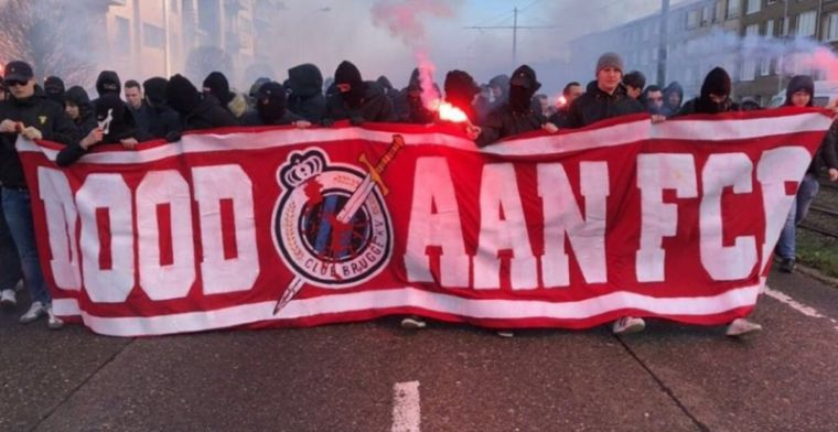 Bivakmutsen uiten hun haat richting Club Brugge: ''Dood aan FCB''
