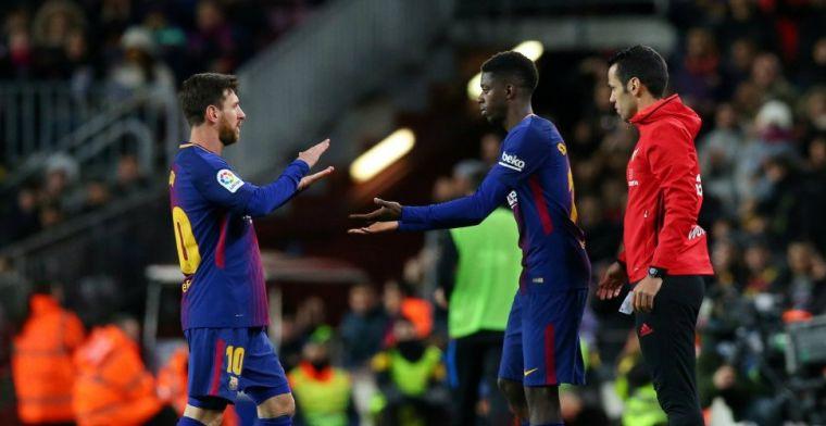 'Onrust bij Barça: Dembélé stoort zich aan omgang Messi en Suarez met Coutinho'