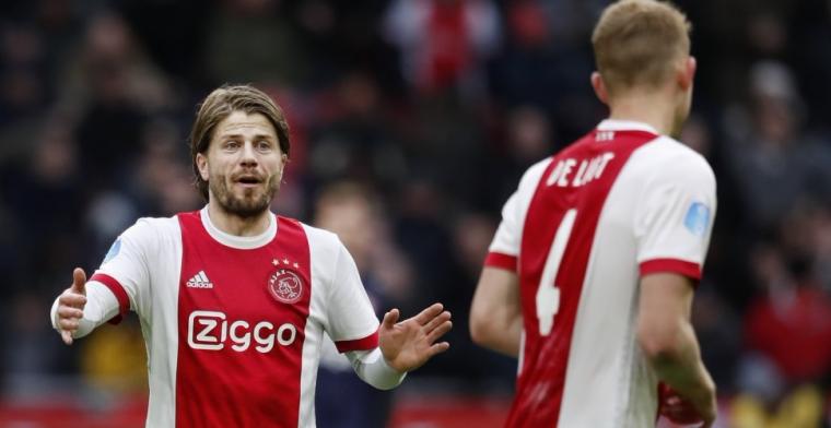 'Beetje voorbarig. Eerst moet Veltman weggaan bij Ajax. Kan deze zomer gebeuren'