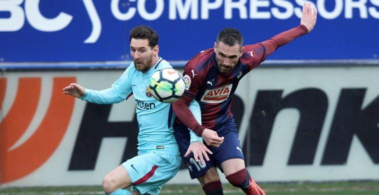 FC Barcelona wint moeizaam bij Eibar en evenaart Guardiola-record