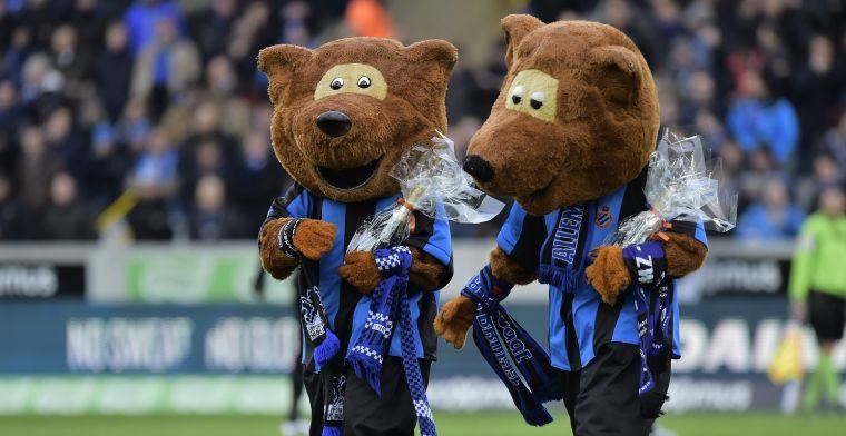 Club Brugge-beer maakte obscene gebaren en wilde zijn kont tonen