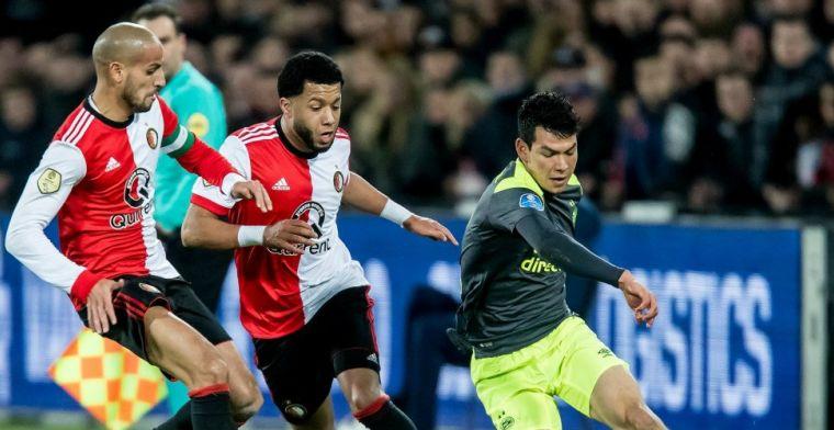 Feyenoord en PSV kennen arbiter voor topper; Lozano komt donderdag voor