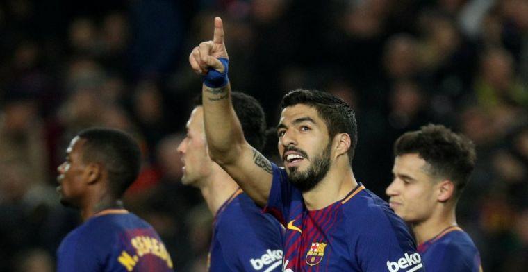 Barça geeft show weg in Camp Nou: hattrick Suarez en wéér record voor Messi